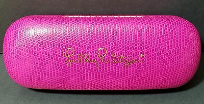 Authentic Lilly Pulitzer Sunglass Eyeglass Case Pink Hardshell Gold Logo