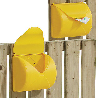 LETTER BOX ~YELLOW~ KBT Outdoor Play Equipment Fort Playground Accessories cubby
