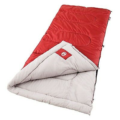 Coleman Palmetto Cool Weather 75x33 Sleeping Bag Red/Tan 2000004418