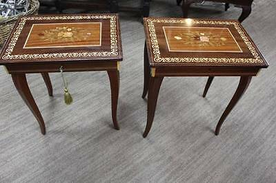 First of Two Italian Musical Jewellery Box Occasional Tables - Sewing Box