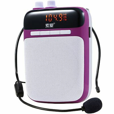 Soaiy S-318 Portable Voice Amplifier 5W PA System USB Charge1500mAh Purple