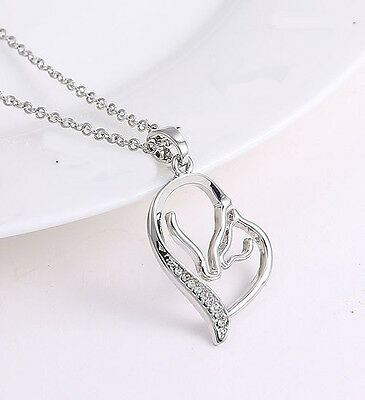 Horse & Western Jewellery Jewelry Ladies Silver Mare & Foal Necklace