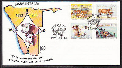 Namibia 1993 Simmentaler Cattle Centenary  First Day Cover - Unaddressed
