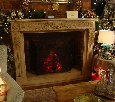 Hand Carved Solid Marble French Louis XVI Regency Style Fireplace Surround