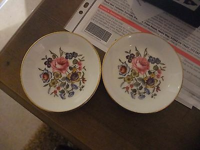 A Fabulous Pair Of Pin Dishes By Royal Worcester