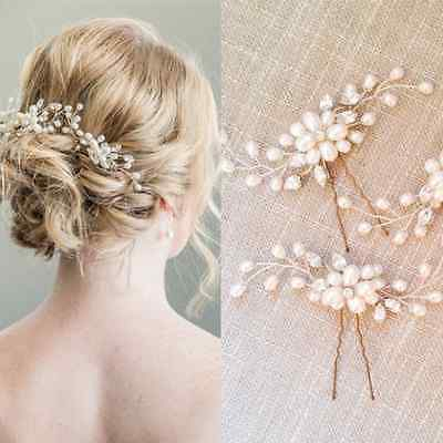 Pearls Flower Wedding Bridal Hair Pin Hairpin Clip Headband Comb New