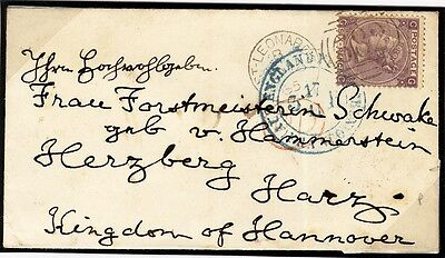 SG 97 6d Plate 5. On A Fine Small Envelope To Harzburg, Kingdom Of Hannover.