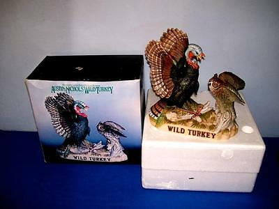 "Austin Nichols  ""wild Turkey And Owl""  Decanter  With Box  Large Size"