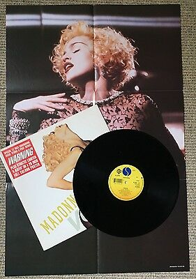 "Madonna - Vogue - Scarce 1990 UK Limited Edition vinyl 12"" + X-Rated poster"