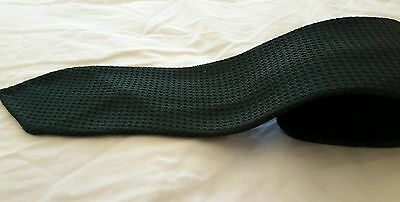 E.G. CAPPELLI forest green handrolled Grenadine tie New 9cm Made in Italy