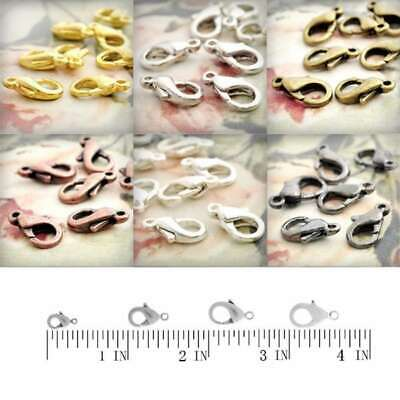 20/30/40/70pcs Lobster Claw Clasps Connector Necklace Chain Jewelry Findings HC