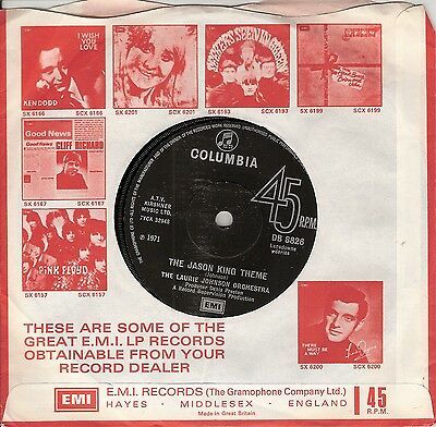 The Laurie Johnson Orchestra – The Jason King Theme - Vinyl 45 - TV theme