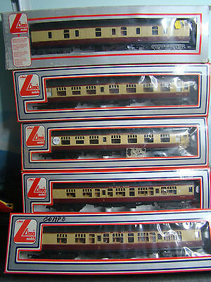 LIMA RUN WITH HORNBY RAKE OF 5 COACHES M34562 COMPOSITE x4 M34722 FULL PARCELS