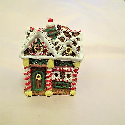 Traditions Resin Victorian Gingerbread House Chistmas Ornament
