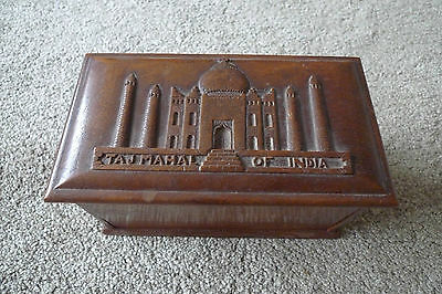 Wooden Cigarette Box  ( Indian Themed )