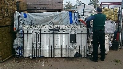 Reclaimed Wrought Iron Driveway Gates