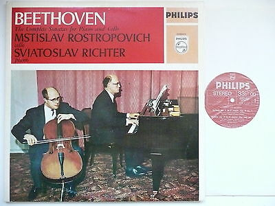 Rostropovich & Richter Play Beethoven The Cello Sontas Philips 6999 015