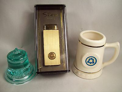 Vintage Bell Telephone System  2 Paperweights & Cologne / Perfume Bottle - 3 pcs