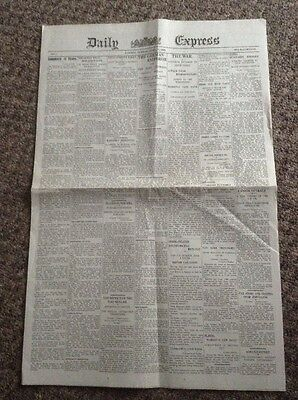 Reprint Of The first Ever Daily Express April 24th 1900