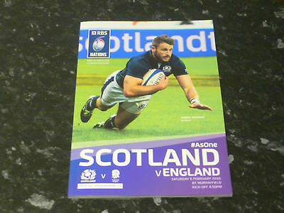 2016 Rugby Union 6 Nations - SCOTLAND v. ENGLAND Official Programme