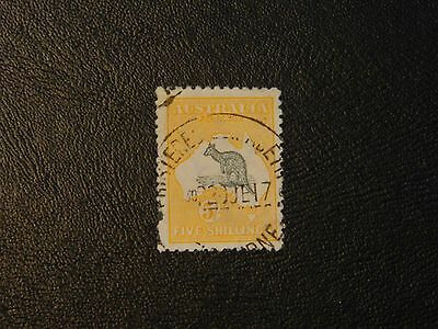 Australia Stamp SG 42 Fine Used issued 1915 to 1928 value 5s Perf 12 Wmk type 6.