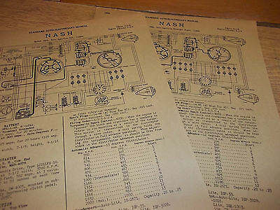 Wiring Diagram(s): 1938 Nash 6 & 8 - FREE SHIPPING AFTER #1 ++++