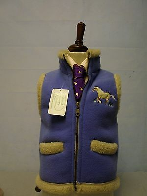 British Country Collection Kid Blue Fleeced Gilet - Small