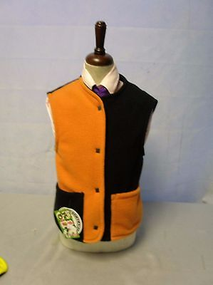 Charles Owen Orange/Black Childs Gilet Size 30