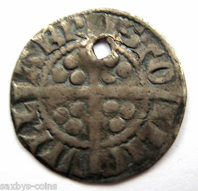 1280 A.D King Edward I - Longshanks medieval Period Silver Penny Coin - Bristol