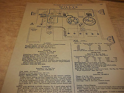Wiring Diagram(s): 1933 Willys 6 - FREE SHIPPING AFTER #1 ++++