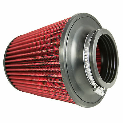 "Universal 76mm 3"" Neck Inverted Dual Cone Induction Intake High Flow Air Filter"