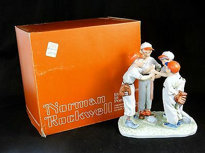 """Norman Rockwell Figurine """"Choosing Up"""" ~ Four Boys Illustrations For 1951 #RW-22"""