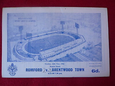 Roy Sanders Benefit Match - Romford v Brentwood Town 16 May 1966