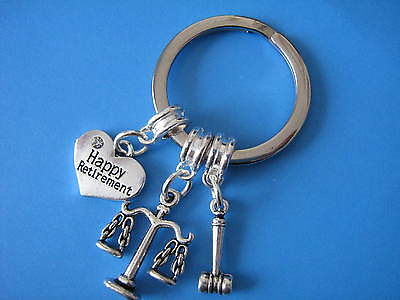 Retired Lawyer Keyring Solicitor Attourney Retirement Gift Law Justice Keychain