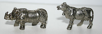 Lot De 2 Figurines Kinder Metal De 1985 - Animaux (En Chrome)