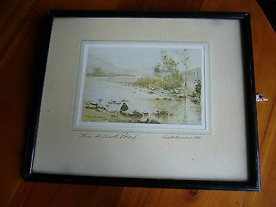 AN OLD 'NORMILL No 2147' PRINT- 'NEAR SKELWORTH BRIDGE' by GEORGE H.DOWNING RBA.