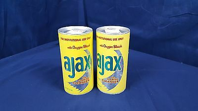 Lot of 2 Vintage Ajax Foaming Cleanser Unopened Can 14 oz. 70's New Old Stock FS