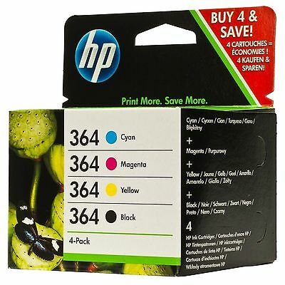 New Genuine HP 364 Combo Pack Set 4 Ink B/C/M/Y - Free Next Day Delivery!