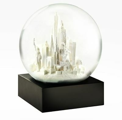CoolSnowGlobes NYC New York City White Chillingly Beautiful Glass Snow Globe