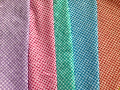 """GINGHAM CHECK Infant or Travel 12""""x 16"""" Pillowcases 100% Cotton FREE SHIPPING!!!"""