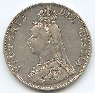 Great Britain.  1889 Double Florin.  KM #783. Choice Very Fine.   (E-1013)