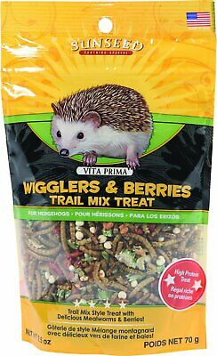 Vitakraft SunSeed Vita Prima Hedgehog Food Wigglers and Berries Treat 2.5 oz