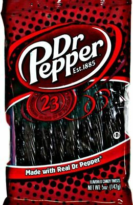 Kenny's Juicy Dr. Pepper Soda Flavored Licorice Candy Twist The Bold Flavor 5 oz
