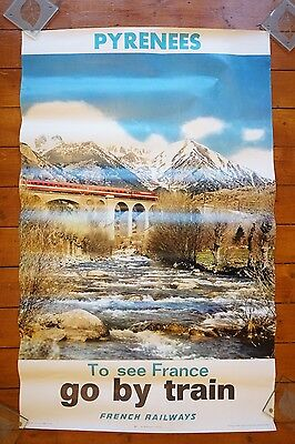 1973 SNCF French National Railways Original Railway Poster Pyrenees