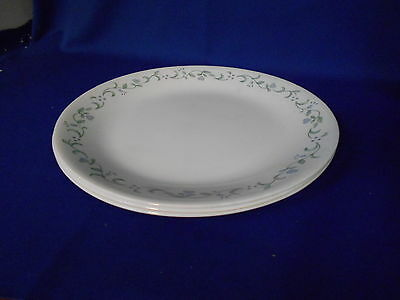 Corning Corelle COUNTRY COTTAGE (3) Dessert Plates White Lavender flowers Hearts