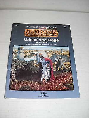 AD&D WG12 Vale of the Mage adventure module TSR Advanced Dungeons & Dragons 9270