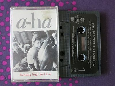 A-HA ‎- Hunting High And Low - original audio cassette tape
