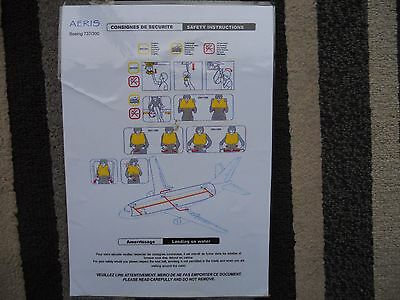 Aeris Boeing 737 300 Airline Safety Card