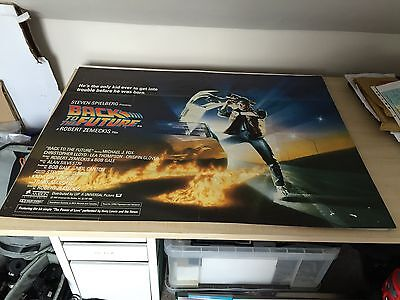 Back to the Future, Original RARE UK Quad Poster, Michael J Fox is Marty '85