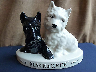 Vintage Brentleigh ceramic Black and White dogs whisky sign